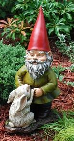 Garden gnomes are one of the most popular yard and garden figures.