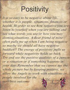 Positivity http://www.whisperingangels.co.za