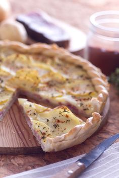 quiche con speck, patate, fontina e paprika