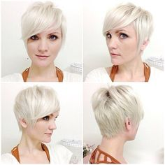 Platinum Pixie Haircuts: Side, Back View