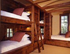 bunk beds . rustic . kids or guest room . cozy .