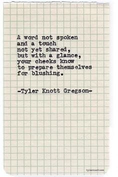 Typewriter Series #724byTyler Knott Gregson
