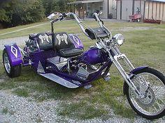 2011 Vw Trike - Custom Built With Rebuilt 1600 Vw Engine - Used Custom Built Motorcycles Other for sale in Harrison, Arkansas Purple Motorcycle, Motorcycle Design, Motorcycle Style, Bike Design, Motorcycle Quotes, Custom Trikes For Sale, Custom Bikes, Drift Trike, Vw Trike