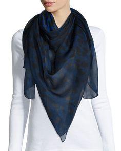 Alexander McQueen Silk Scarf   ACCESSORIES SHOW™   Pinterest   Silk ... 40c3c3c0e81