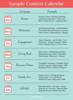 Social Media Cheat Sheet  Content Calendar  Social Media Cheat