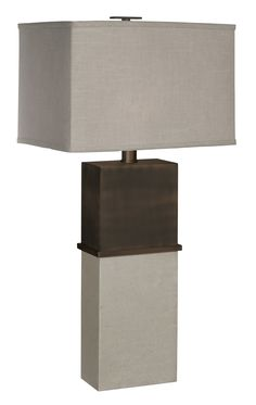 """Tuscany 30"""" H Table Lamp with Rectangular Shade"""