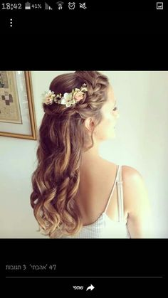 "[ ""Beautiful Bridesmaid Hairstyles Half Up Ideas"", ""PLUS, looks good with the flowers in my hair"", ""I love the half crown. Maybe not the flowers but the concept"", ""Black, glittery, bejeweled flowers would look so good on Feyre."", ""Romantic bridal half & braided up-do"", ""Fin krans bak i håret"", ""Perfectly sized flowers for the back"", ""Small florals mostly to the back."", "" perfect for a special occasion"" ] # # #Flower #Hairstyles, # #Gorgeous #Hairstyles, # #B..."