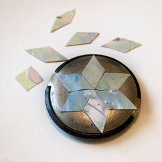Моделирующий гель. Имитация перламутровой мозаики.