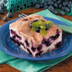 "Blueberry Buckle ~ Submitter says:  ""This recipe came from my grandmother. As children, my sister and I remember going to Pennsylvania for blueberry picking. Mother taught us to pick only perfect berries, and those gems went into this wonderful recipe."" —Carol Dolan Mt. Laurel, New Jersey"