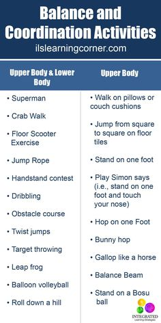 Balance and Coordination Activities for Attention and Focus | ilslearningcorner...