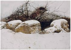 Andrew Wyeth (1917-2009). Shredded Wheat . 1982. Watercolor and pencil on paper. 53.3 x 75.6 cm