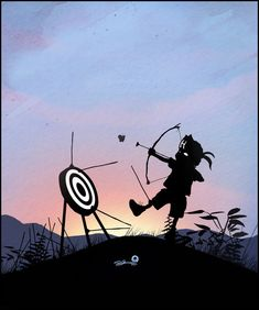 Hawkeye kid - illustrations by Andy Fairhust.