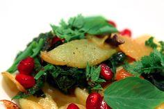 Kristen Kish's Semolina Orecchiette with Brown Butter, Pomegranate, Apple & Fresh Figs, LCK