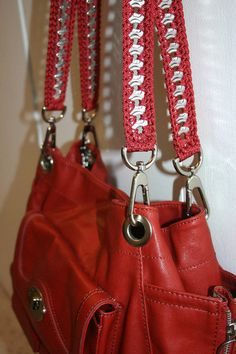 Crochet Purse Handle 27 inch Chain Metal Pop Tab by PopTopFashion, $10.00