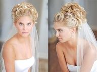 Up-do with veil