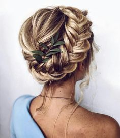 47 Braided hairstyle inspiration , braids ,hairstyles ,braided ponytails , textured braids Bridesmaid and flower girl wedding hair ideas and inspiration Braided Updo, Fishtail Updo, Hairstyle Braid, Braided Hairstyles Updo, Boho Hair Updo, Bridal Hair Braids, Braids And Curls, Red Hair Updo, Bridal Hair Updo Loose