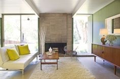 1962 Eichler home for sale ~ Mt Shasta Drive, San Rafael, Upper Lucas Valley (undated posting, but the site is great. photographer unknown)