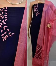 New embroidery dress indian blouses Ideas Embroidery On Kurtis, Hand Embroidery Dress, Kurti Embroidery Design, Embroidery Neck Designs, Embroidery Fashion, Embroidery Patterns, Indian Embroidery, Churidhar Neck Designs, Neckline Designs