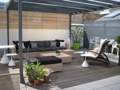 Dedon Loungemöbel auf unserer Dachterrasse