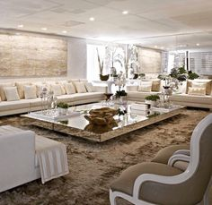 LUXURY LIVING ROOM | Big Dreams & Luxury Taste | bocadolobo.com/ #livingroomideas #livingroomdecor