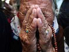 A Tibetan exile weeps for Jamphel Yeshi - Dharamsala, India
