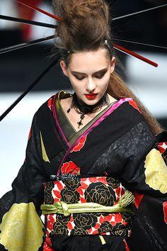 YOSHIKIMONO FIRST COLLECTION Ethnic Fashion, Kimono Fashion, Asian Fashion, Kimono Japan, Japanese Kimono, Modern Kimono, Japanese Costume, Kimono Dress, High End Fashion