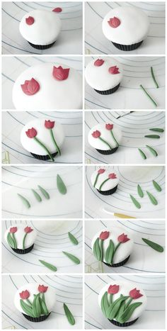 Catcakes - Cupcakes, cakes and other sweets: cupcakes with tulips Tutorial