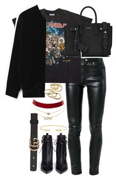 """Untitled #3587"" by theeuropeancloset ❤ liked on Polyvore featuring Yves Saint Laurent, MANGO, Charlotte Russe, Kendra Scott, Sergio Rossi, Jemma Wynne and Gucci"