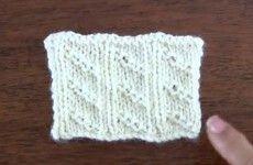 Punto rejas tejido en dos agujas