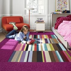 Stripy kid's bedroom