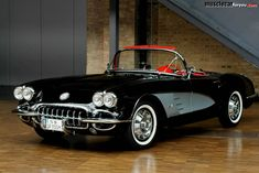 1959 Chevrolet Corvette Truly one of the few cars I have always wanted and in that color scheme. #chevroletcorvette1959