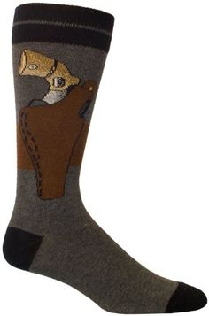 Crazy Socks for Men | Ozone Men's Back Up Gun Grey Socks