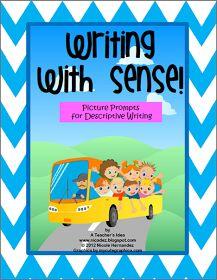 A Teacher's Idea: Writing With Sense and A FREEBIE!