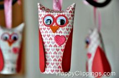 12 Fun and Easy Valentine's Day Crafts for Kids http://www.happyclippings.com/2013/01/diy-valentine-paper-roll-owls.html
