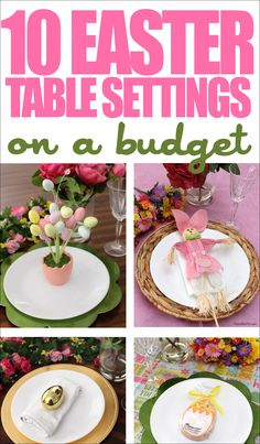 10 Easter Table Setting Ideas on a Budget