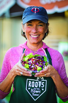 Susan Moores, MS, RD: Creator, Roots for the Home Team. A Minnesota registered dietitian connects youth garden projects with Major League Baseball concessions.