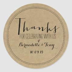 Shop Thanks For Celebrating With Us! Wedding Thank You Classic Round Sticker created by Invitation_Republic. Personalize it with photos & text or purchase as is! Gold Glitter Wedding, Fun Wedding Invitations, Invites, Thank You Stickers, Personalized Note Cards, Wedding Supplies, Party Supplies, Monogram Letters, Wedding Paper