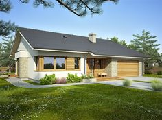 New House Plans, House Front, Planer, Pergola, Shed, New Homes, Outdoor Structures, Exterior, Cabin