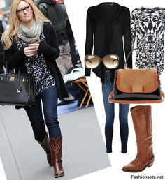 cute clothes to wear with cowboy boots | What To Wear With Cowboy Boots - Sets For Cowboy Boots | FASHIONSETS