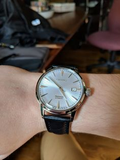 [Seiko Presage] Just got this baby replaced the strap as well. via /r/Watches