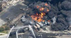 6 luglio: Canada, deraglia treno carico di petrolio In fiamme 40 edifici, 5 morti e almeno 40 dispersi