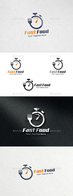 Fast Food Logo: Food Logo Design Template by martinjamez. Food Logo Design, Logo Food, Logo Design Template, Logo Templates, Brand Design, Typography Design, Logo Restaurant, Comida Delivery, Delivery App