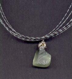 Green sea glass pendant #sea glass beads & #sea charms: http://www.ecrafty.com/c-780-sea-glass-beads.aspx?pagenum=1===newarrivals=60