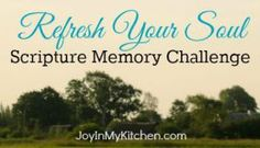 Refresh Your Soul Scripture Memory Challenge