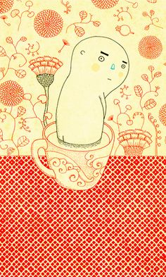 bathroom (sketch for acrylic painting) by pilipo, via Flickr