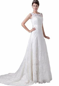 $195  Lace Bateau Beading Floor Length A Line Wedding Dress(8,Ivory) Crystal Dresses,http://www.amazon.com/dp/B00JTR0QMM/ref=cm_sw_r_pi_dp_s1BDtb1BHKYTWXSK