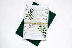 Zaproszenie Jednokartkowe Zielone Liście z Kalką. Wszystkie informacje na temat tego zaproszenia, znajdziesz na naszej stronie! Wedding, Valentines Day Weddings, Weddings, Marriage, Chartreuse Wedding