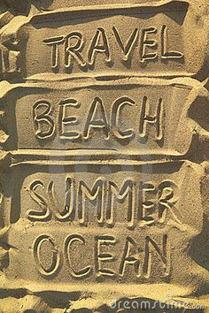 Words on sand - travel, beach, summer and ocean http://virginia.playbeach.tv #bagnivirginia #loano #liguria