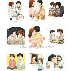 Korean Drama Funny, Korean Drama Quotes, Korean Drama Movies, Korean Dramas, Songsong Couple, Cute Couple Art, Bff Drawings, Art Drawings Sketches Simple, Song Joong Ki Dots