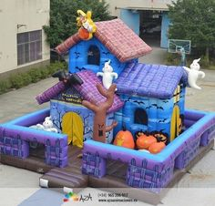 Castillo Hinchable Casa del terror Halloween